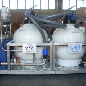 mobile unit for drinking water treatment