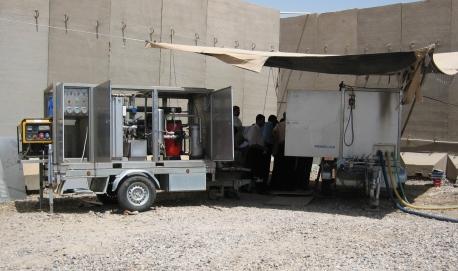 Unità mobili per il trattamento dell'acqua per le emergenze