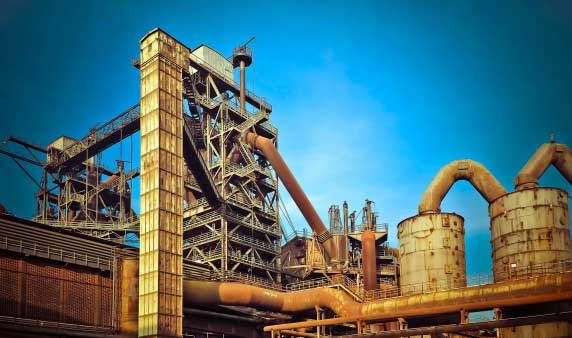 Plant for steel processing sector