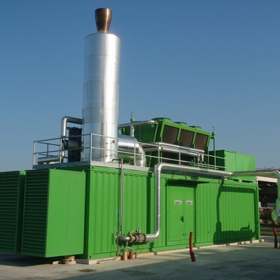 Biogas produced from waste