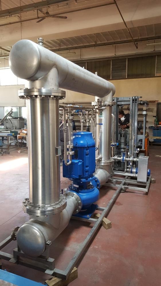 Realizzazione impianto trattamento di reflui provenienti dai reparti di lavorazione di stabilimento industriale