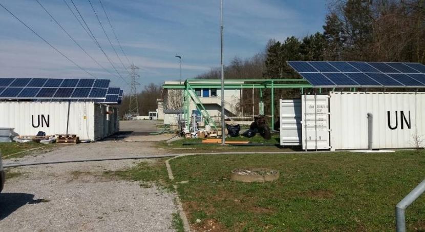Impianto in container trattamento reflui civili